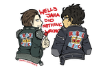 join the bad boy club, we have jackets by JammyScribbler
