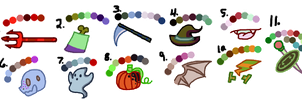 MLP FIM Halloween/Nightmare Night Adopts-clozed- by oCrystal