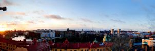 Stockholm from the 9th floor by phakeplastic