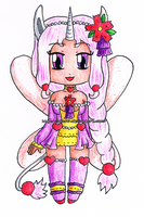 [G] Chibi Pink Heart Unicorn Fairy Elysia by izka197