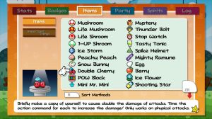 PMTGT: Pause Screen - Items by DPghoastmaniac2