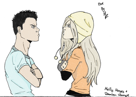 molly hayes + damian wayne by Starlightracer