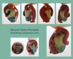 Weasel Stone Pendant by Bittythings