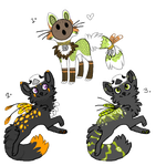 ADOPTABLES - Messenger and coconut cat auctions c: by The-F0X
