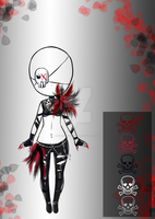 (closed) - Dark Feather Outfit Adopt by CherrysDesigns