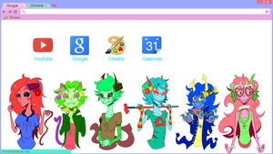 Trickster!BetaGirls Google Chrome Theme by 8lah8lah8lahWhat