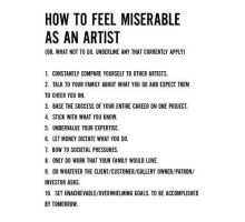 Miserable Artist guidelines by xavor85