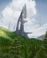 Forerunner's Tower by jaxxblackfox