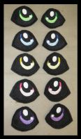 Custom Embroidered Eyes by Mlggirl