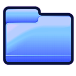 Blue Folder - Pastel Series Icon by asianplatypus6
