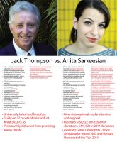 Jack Thompson vs. Anita Sarkeesian by BJSparky
