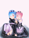 Rem and Ram by emleedomo