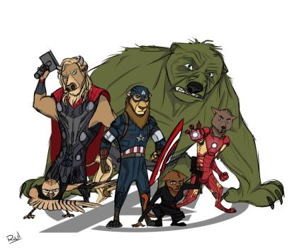 Avengers of Zootopia by LoveAnimals8