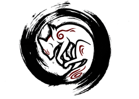 Okami Tattoo Design by nekuroSilver