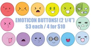 Emoticon Buttons LOL by Nikufei
