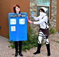 Doctor Who and AoT Cosplay (Taiyou 2014) by MysterionRises6