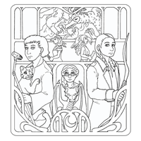 Coloring Page - Witches and Sons by ErinPtah
