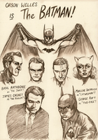 Batman starring Orson Welles - pencil by Nick-Perks