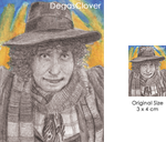 Fourth Doctor - Pencil Mini portrait by DegasClover