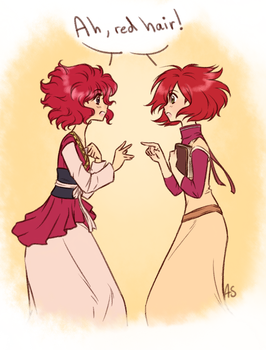 Redheads crossover by AnnMY