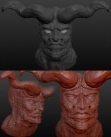 Satan: Rendered in Sculptris by AskGriff