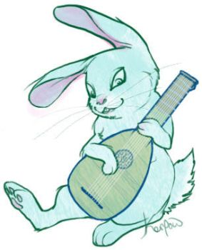 Lute Bunny by Kerpow