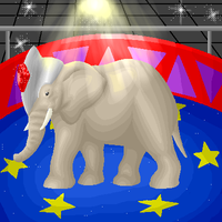 Circus Elephant by darkmuffinsouls