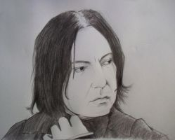 Alan Rickman as Severus Snape by Victoria-the-witch
