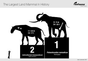 The Largest Land Mammal in History by EoFauna