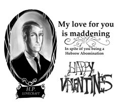 A Lovecraft Valentines Card by tofutiles