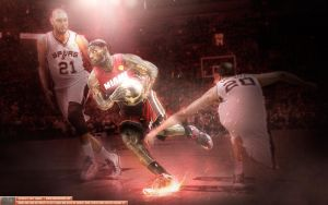 LeBron James Control the Crown by Sanoinoi
