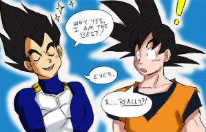 Vegeta Is The Best by ellensama