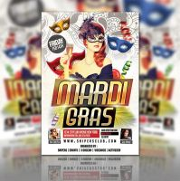 Mardi Gras Flyer Party by evanssnipers