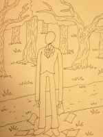 Slender -line art- by Alivoir
