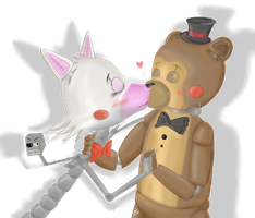 Toy Frangle (Toy Freddy x Mangle) by TheGoldenAquarius