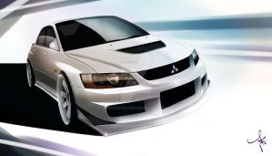 White on White Evo by Nism088