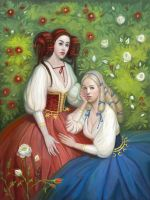 Snow-White and Rose-Red by Lyuleo