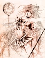 Sailor Pluto sketch :complete: by Giname