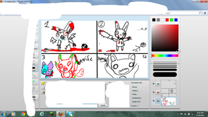 ISCRIBBLE DRAWING CONTEST phyco bunnies by SkylordBelle