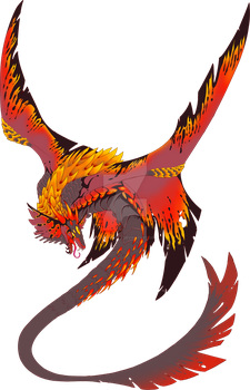Offer to Adopt: Fire Manta Dragon SOLD by GlitchedBat