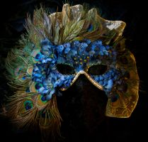 Custom Order- Peacock Mask - Sold by Beadazzlebyjill