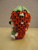 3D Origami - Strawberry Girl - 2 by Mixowelle