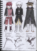 Harbingers - Costumes sketch colour by mangarainbow