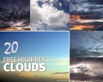 Freebies: 20 Dramatic Clouds Textures by fiftyfivepixels