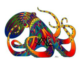 Oaxacan Octopus by JillianLambertArt