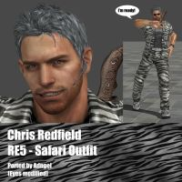 Chris Redfield RE5 Safari Outfit by Adngel