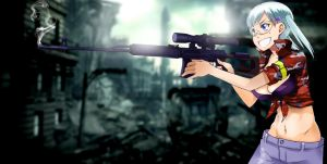 Girl With Dragunov Sniper Rifle by Orinknight
