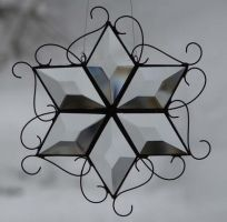 Stained Glass Beveled Star by TheGlassMenagerie