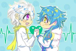 DMMD- Aoba x Clear by BlackRoseMikage