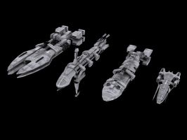 Hero Ships of the Federation by Rebelmoon